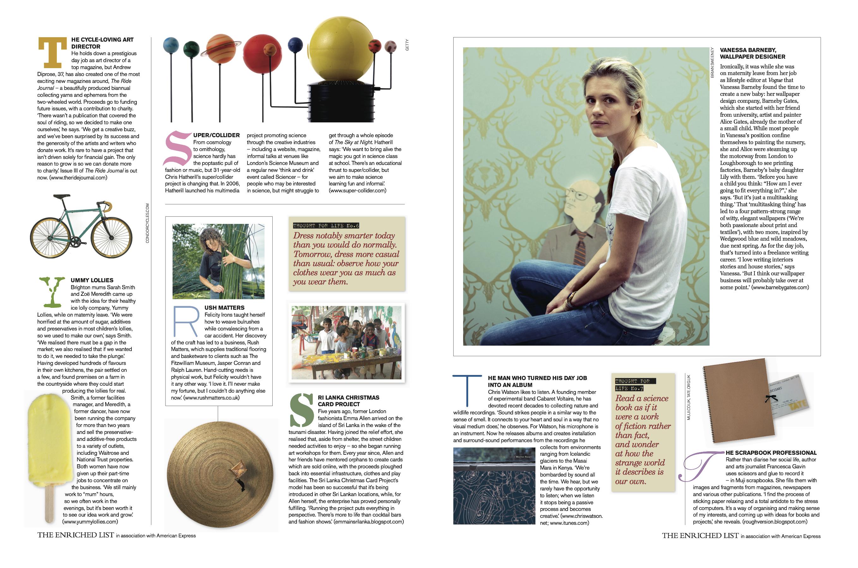2009 Nov -Telegraph Magazine article