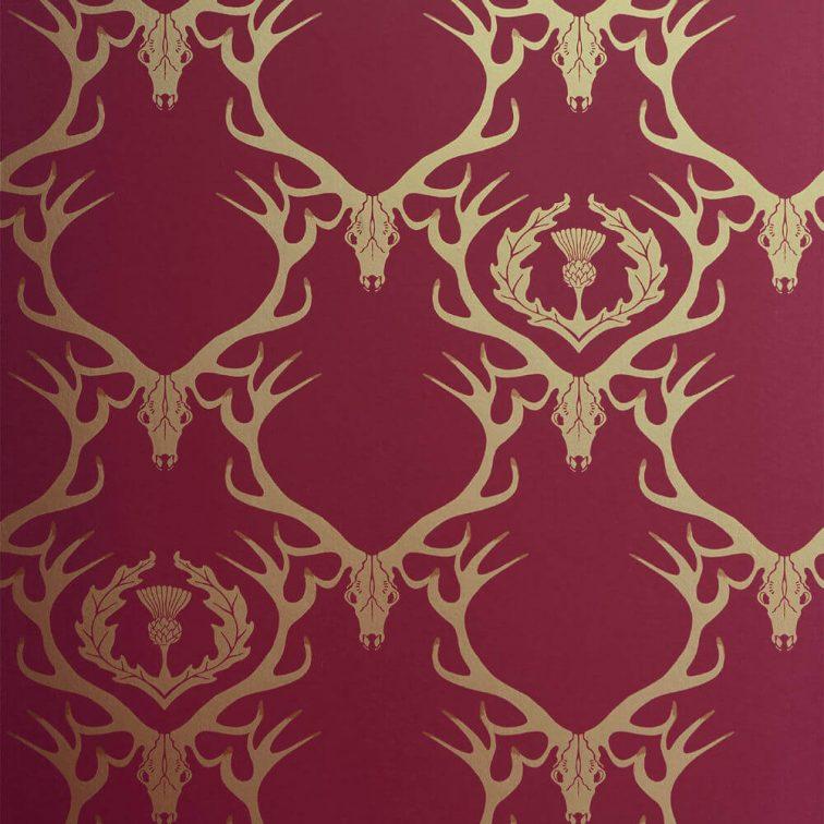 wallpaper deer damask - photo #13