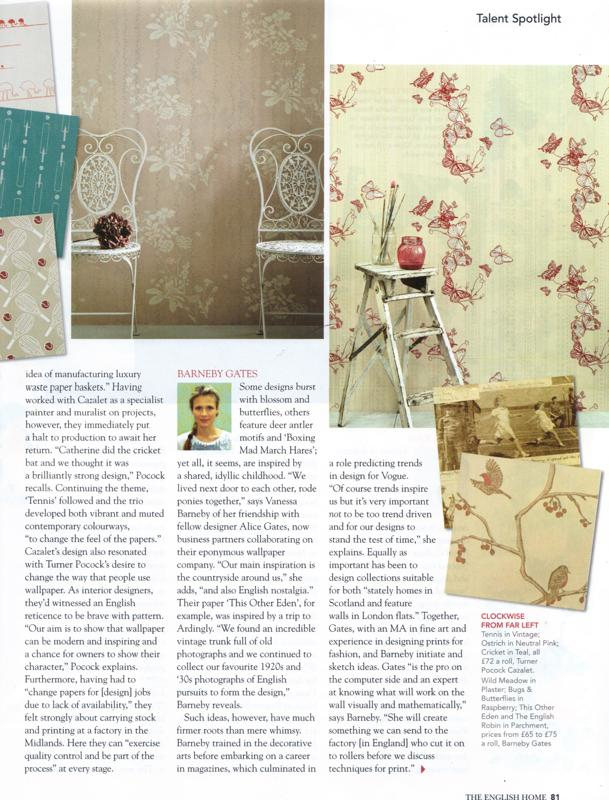 2011 July - English HOme - article
