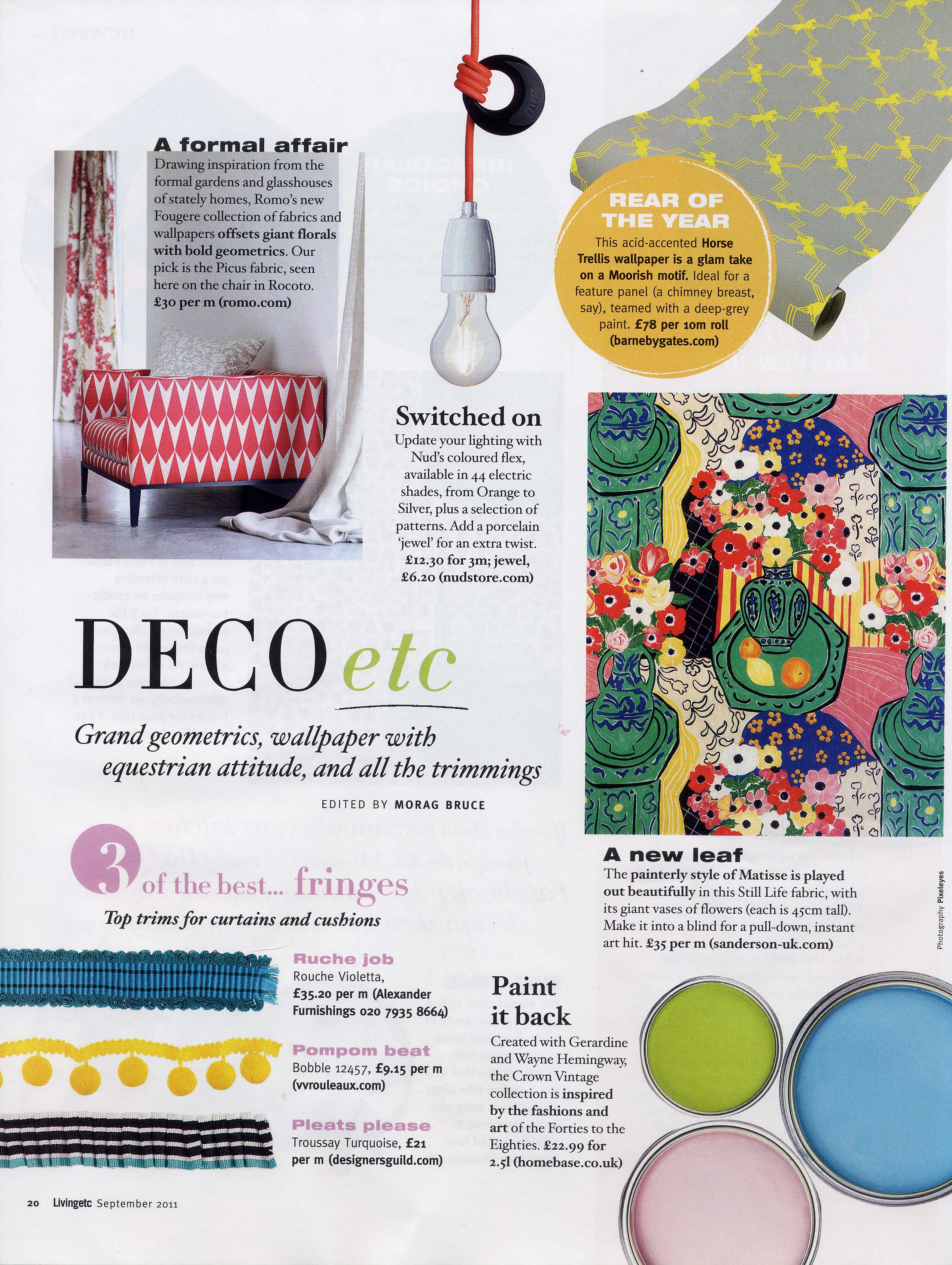 2011 Sept - Living Etc - article