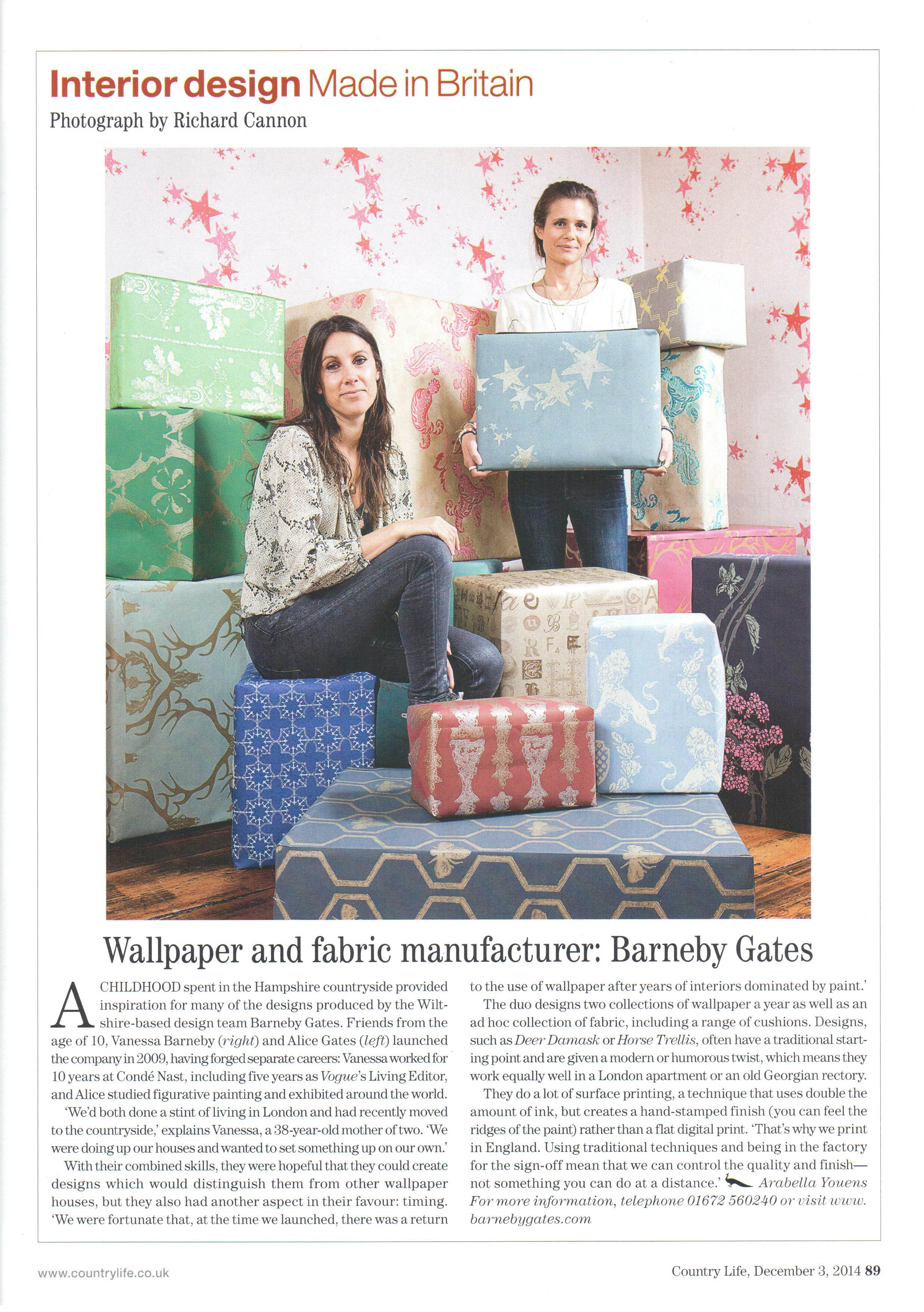Country Life - Article - Dec 2014