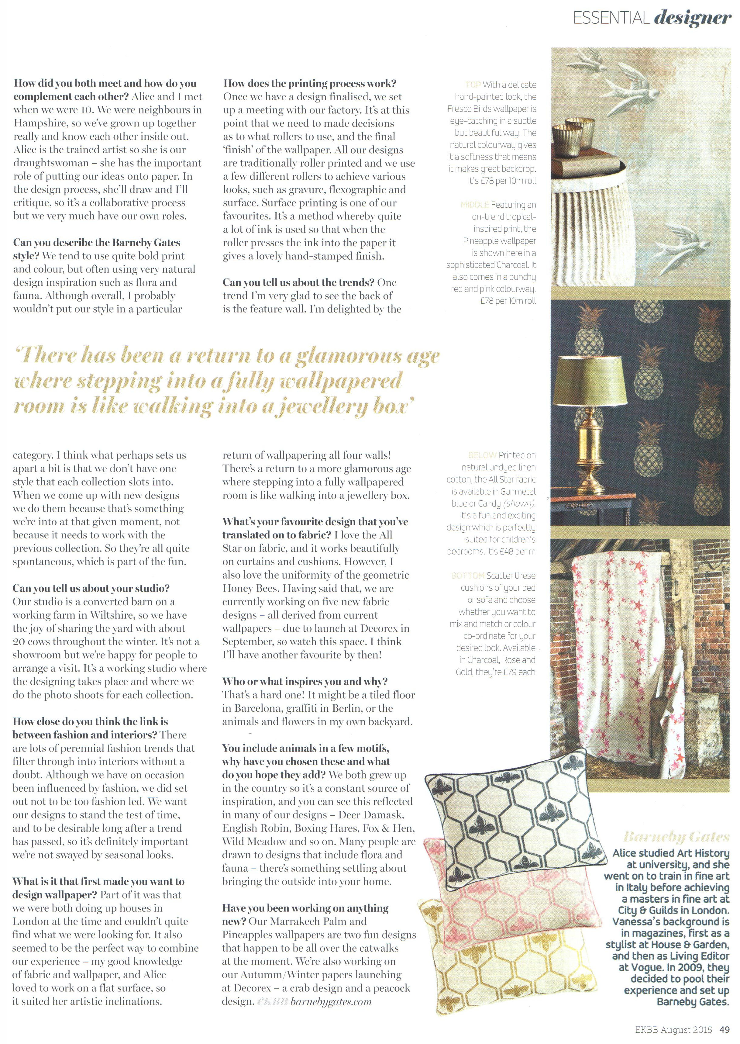 Essential Kitchen, Bathroom, Bedroom - Article 2 - Aug 2015