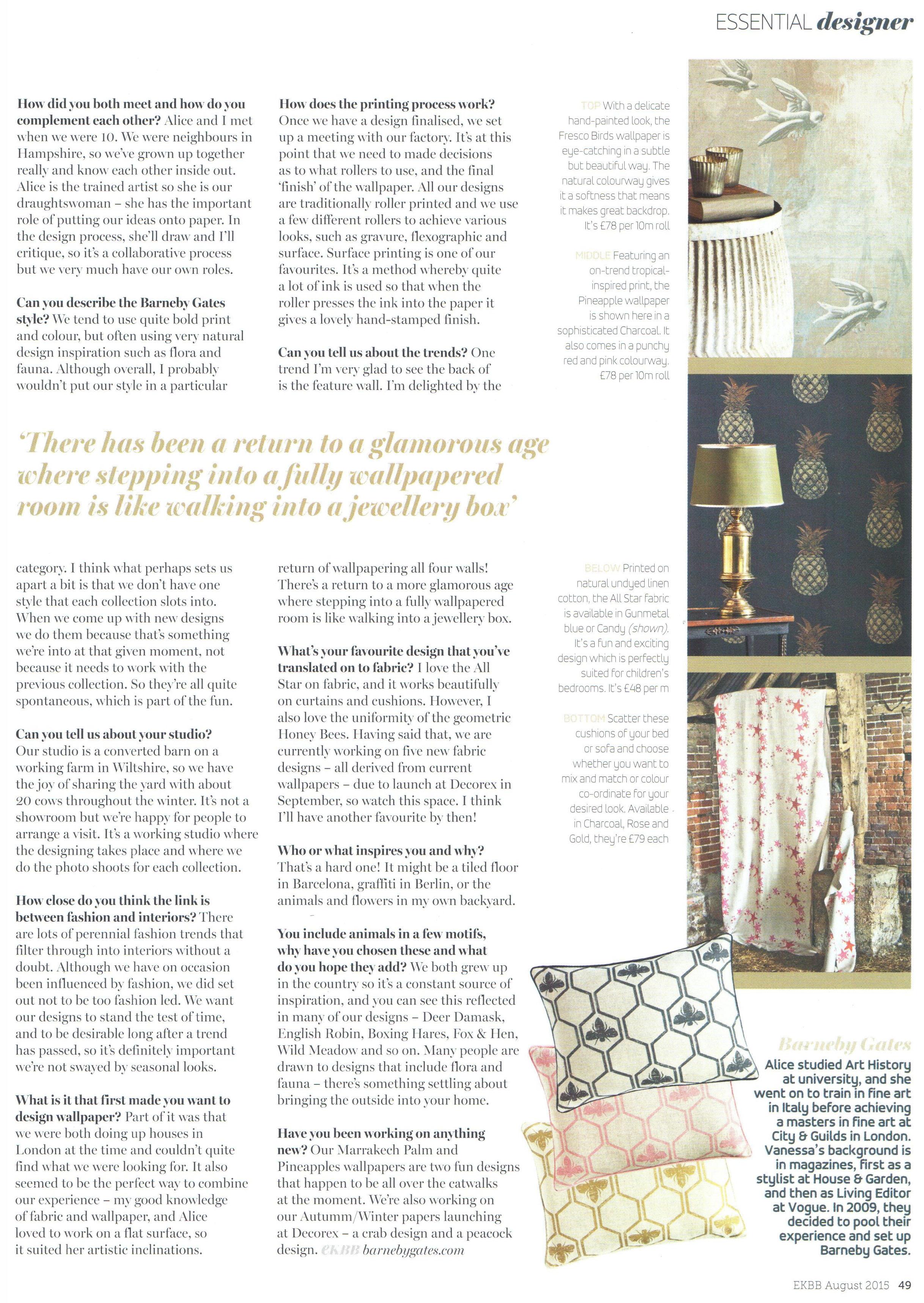 Essential Kitchen, Bathroom, Bedroom - Article 2 - Aug 2015