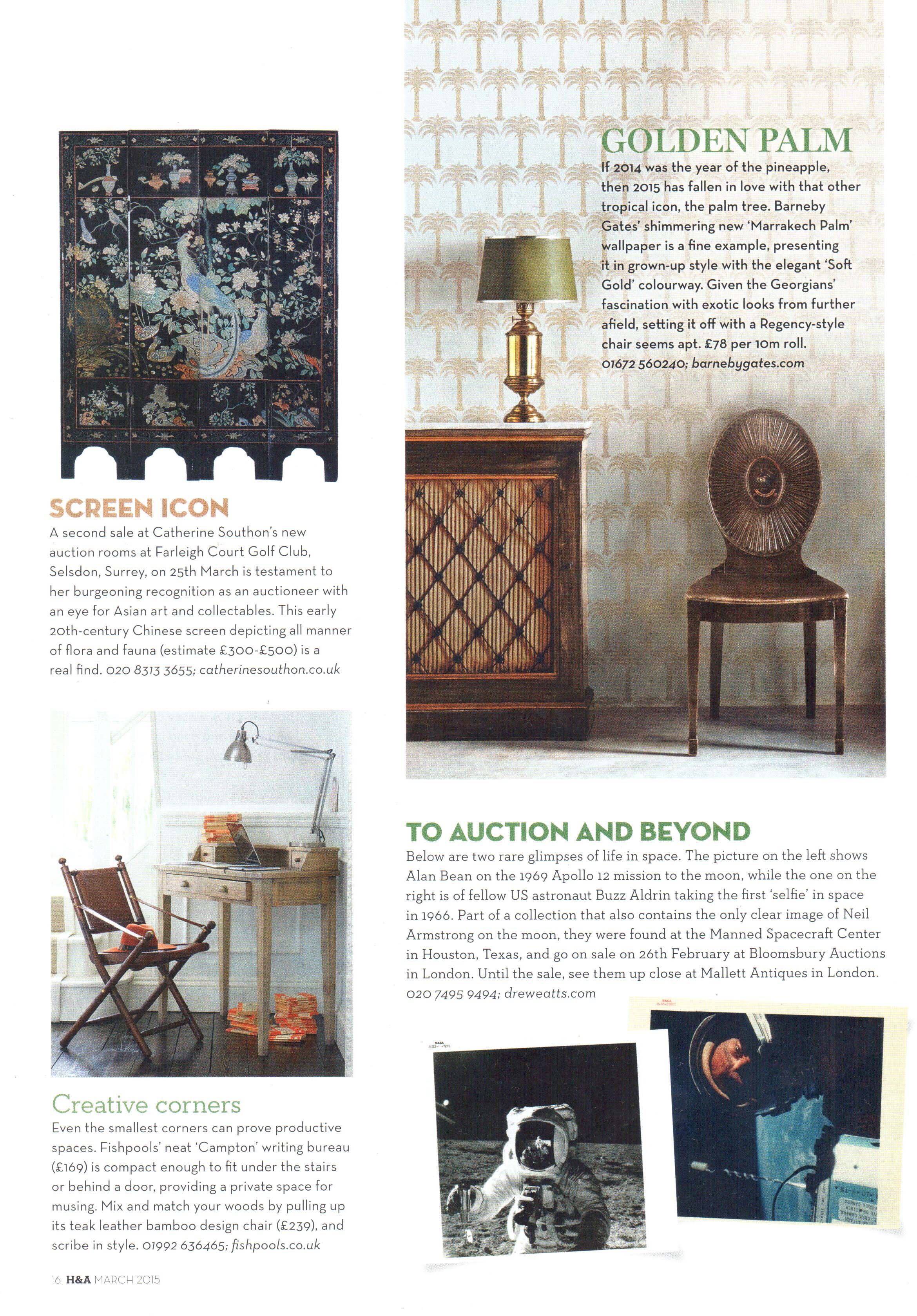 Homes & Antiques - Article - March 2015