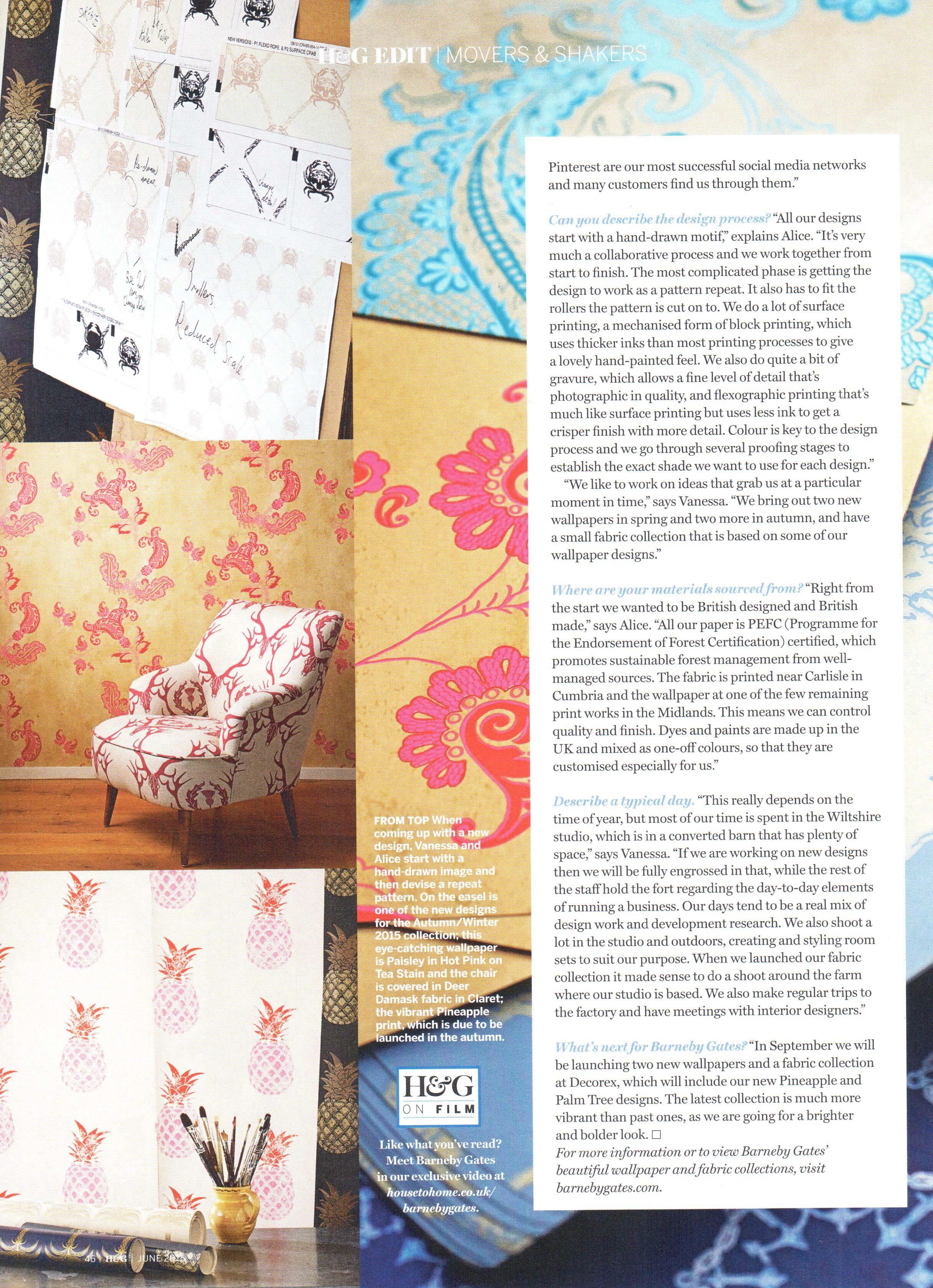 Homes & Gardens - Article3 - June 2015