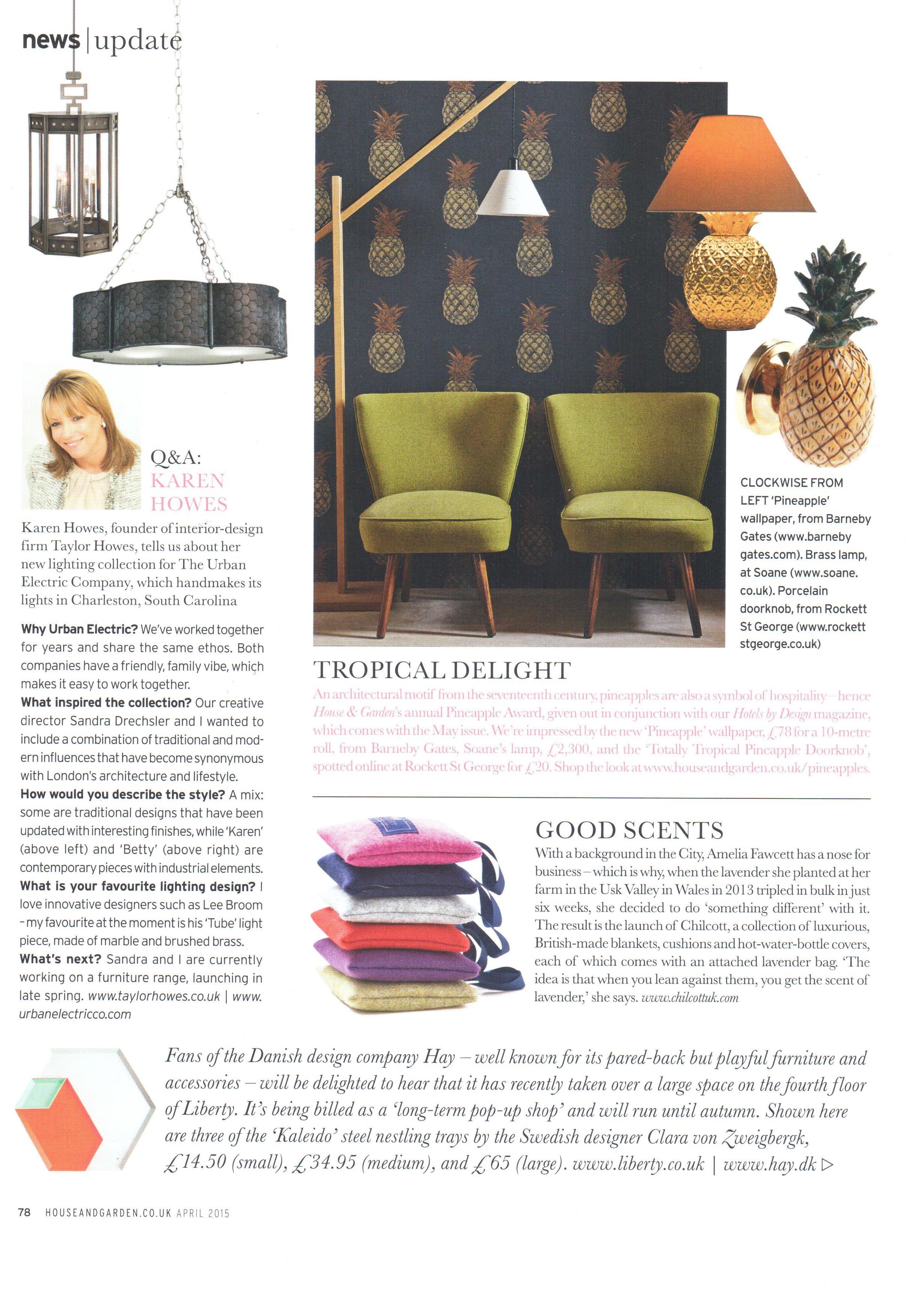 House & Garden - Article - April 2015