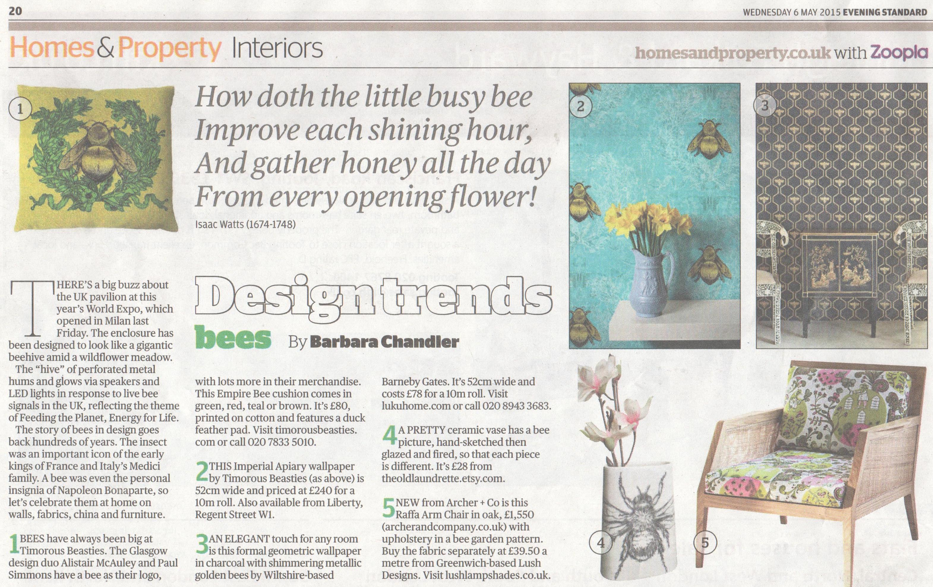 London Evening Standard - Article - May 2015