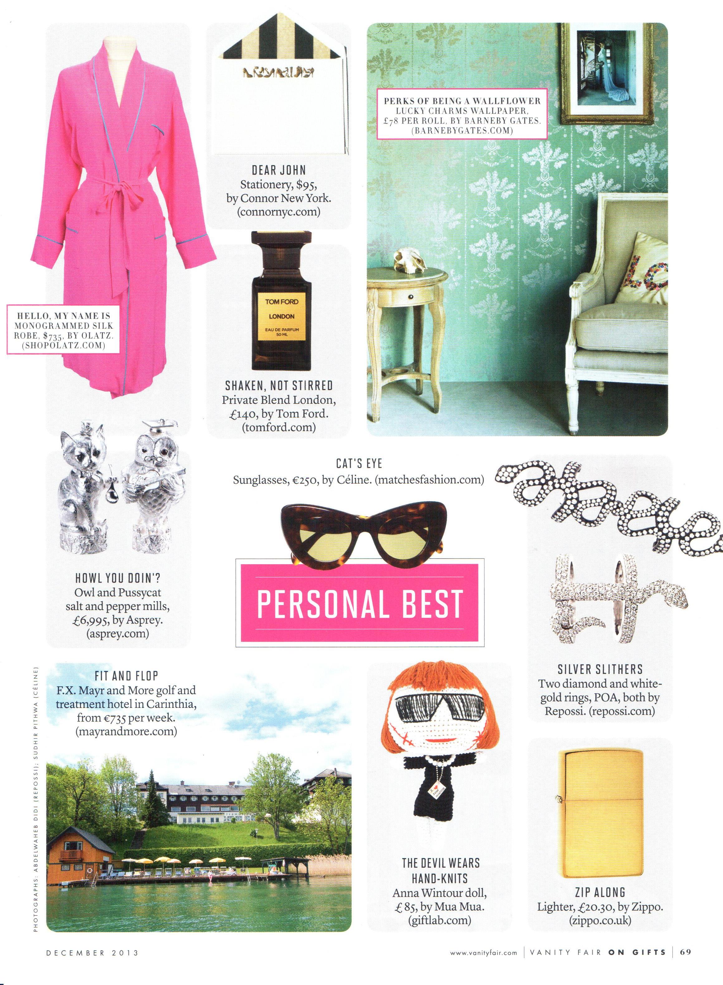 Vanity Fair - December 2013 - Article