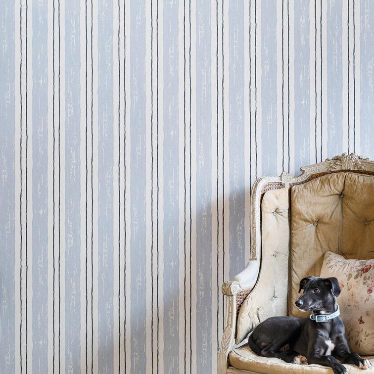 Painter's Stripe Wallpaper